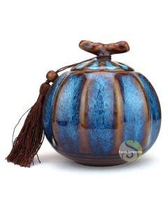 Boite à thé pumpkin bleue