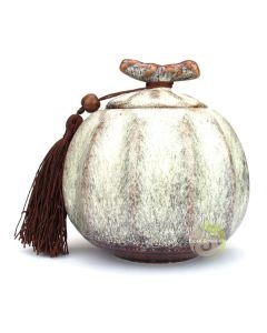Boite à thé pumpkin blanche