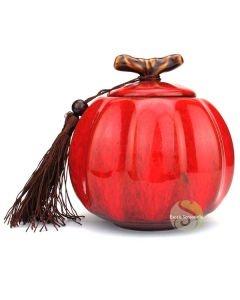Boite à thé pumpkin rouge