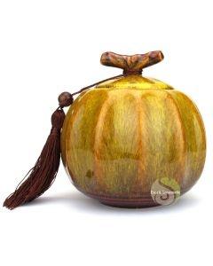 Boite à thé pumpkin jaune
