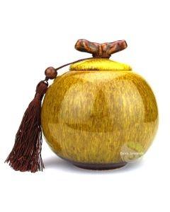 Boite à thé apple jaune