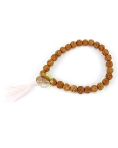 Parure 3 bracelets rudraksha & quartz rose