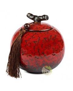 Boite à thé apple rouge marbré