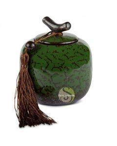 Boite à thé vert marbré
