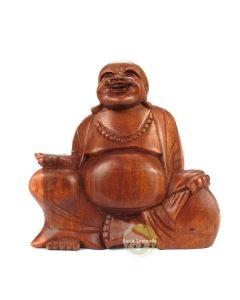 Bouddha prospérité rieur statuette 17 cm porte bonheur