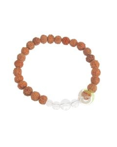 Turquoise bracelet rudraksha yoga yogi bijoux énergie