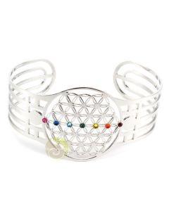 Bracelet fleur de vie chakra Swarovski