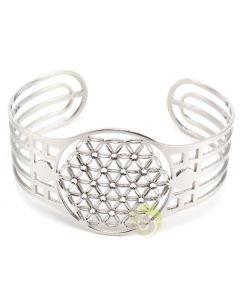 Bracelet fleur de vie argenté Swarovski