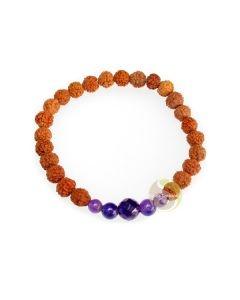 Cristal de roche bienfaits et vertus rudraksha bracelet yoga