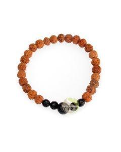 Mala améthyste bracelet rudraksha perles yogis zen