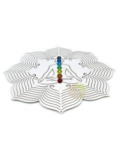 Mobile chakra suspension décoration design jardin zen méditation