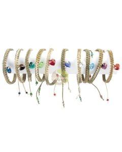 Bracelet chanvre coeur Swarovski
