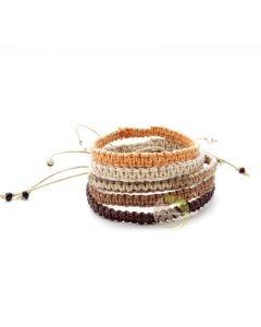 Bracelet réglable chanvre macramé océan bijoux fantaisies