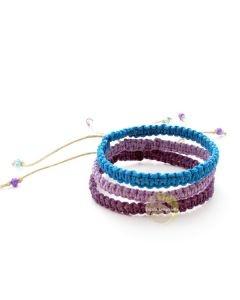 Bracelet bijoux fantaisies chanvre naturel lumière d'été