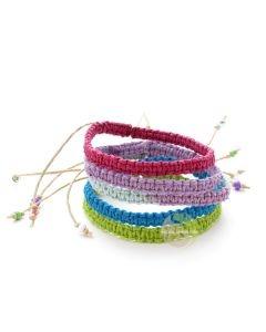 Bracelet chanvre pastel