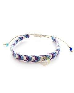 Bracelet méditation ajustable chanvre naturel bijoux fantaisies