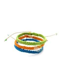 Bracelet améthyste brute chanvre naturel bijoux fantaisies