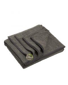Couverture de yoga en laine recyclée sédiment