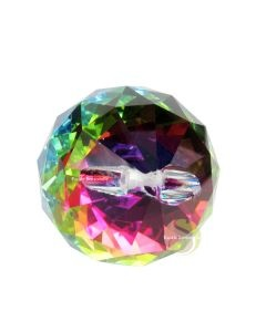 Boule de cristal facettée multicolore