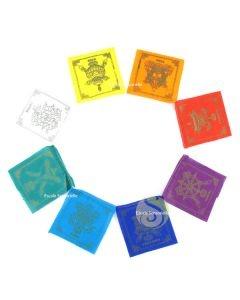 Drapeaux de prières 8 signes auspicieux