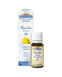 Fleur de Bach granules Bio sans alcool Mimulus mimule N°20