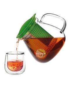 Théière verre filtre intelligent verte