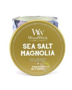 Woodwick sea salt magnolia Bougie parfumée artisan mèche bois