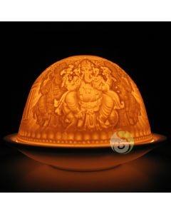 Photophore lithophanie dôme Ganesh