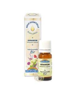 Géranium huile essentielle bien-être de la peau Biofloral