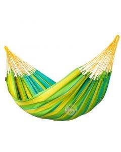 Hamac simple colombien la siesta sonrisa lime