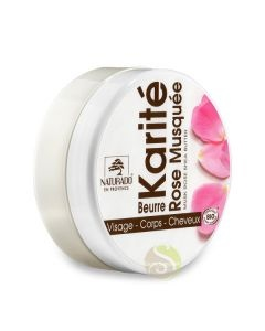 Naturado Karité pur 100% BIO, soin lèvres, cheveux, mains, pieds secs, crevasses, peaux sèches