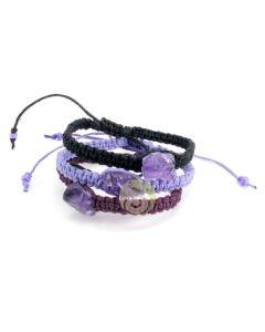Bracelet bonheur chanvre macramé fait main bijoux fantaisies