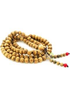 Mala tibétain perle de bois