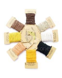 Mini carte de chanvre nuance brun jaune