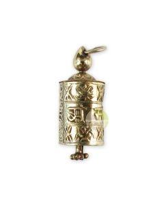 Moulin à prières argent pendentif tibétain mantra Népal bijou