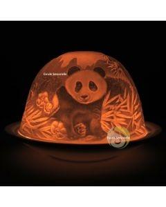 Photophore lithophanie dôme panda