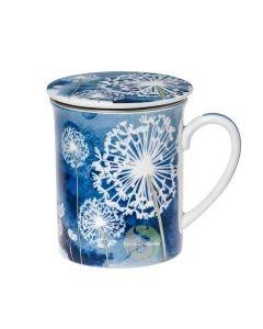 Tisanière céramique 3 pièces Pissenlit bleu