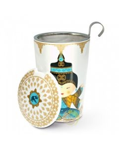 Tisanière céramique Shiva turquoise