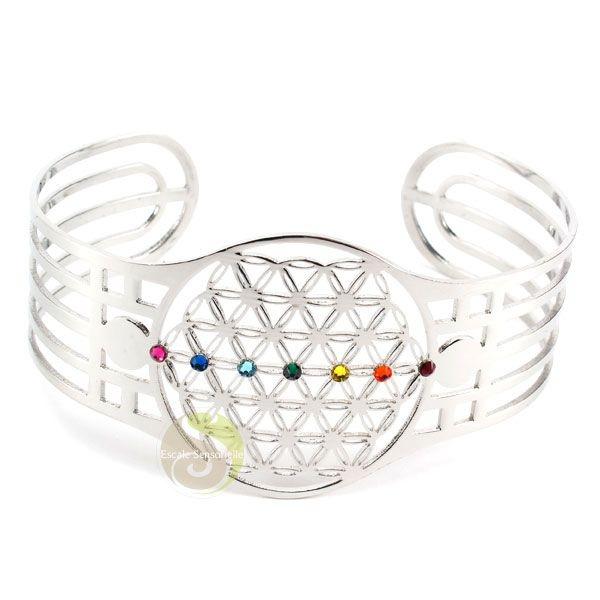 Bracelet Chakra Fleur De Vie Chakra Swarovski Bijoux Fantaisies